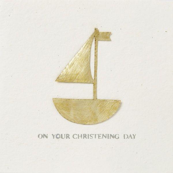"""Festtagskarte """"On your christening day"""""""