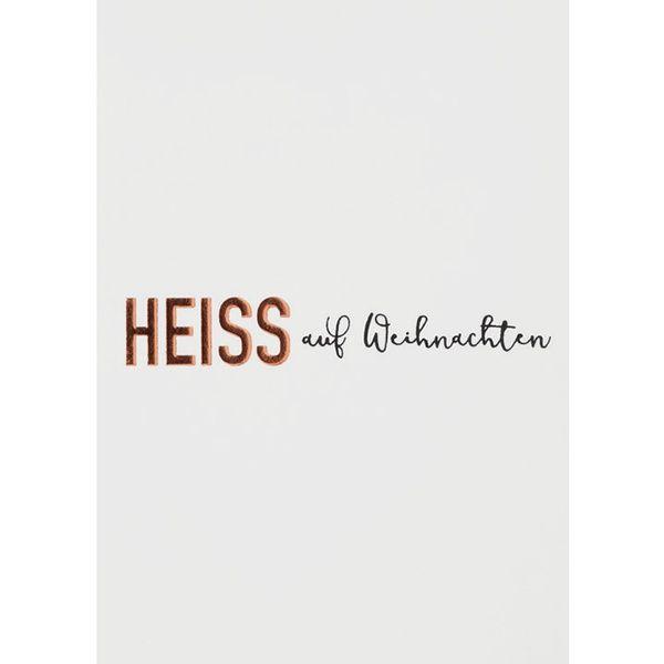 """Winterzeitpostkarte """"Heiss"""""""