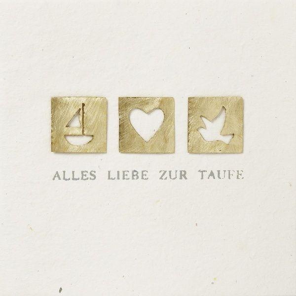 """Festtagskarte """"Alles Liebe zur Taufe"""""""