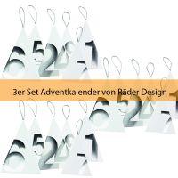 Räder Touch of Gold Adventskalender, Silber 3er Set