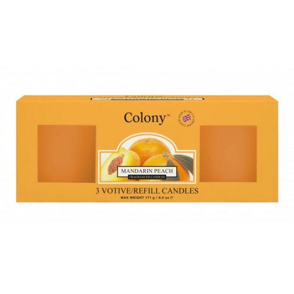 Mini-Votive Refill - Mandarin Peach 14 h