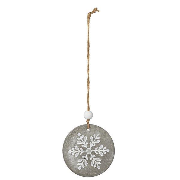 Winterluft Betonornament Schneeflocke