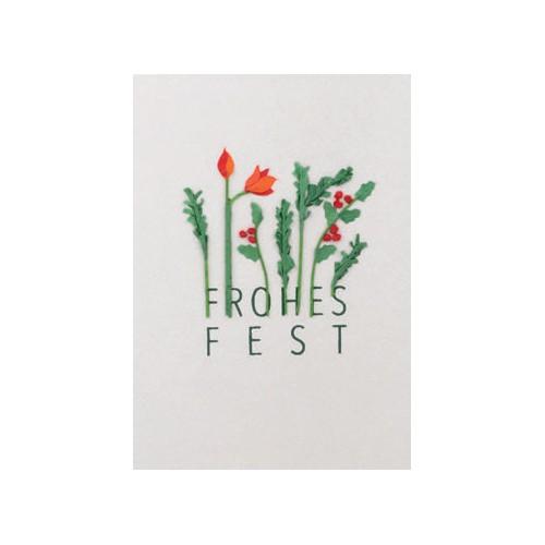 Weihnachts Papierkunstkarte Frohes Fest