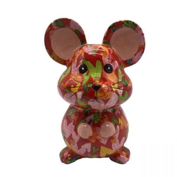"""Maus """"Martha"""" M - Rot mit Herzen"""