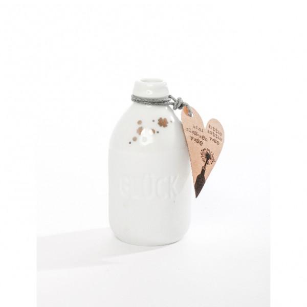 Mini Flaschenvase Glück