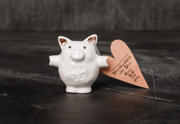 "Mini Schweine ""Kleeblatt"""