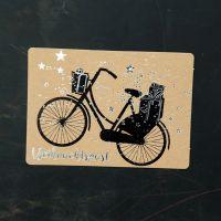 """Winter Postkarte """"Fahrrad"""""""