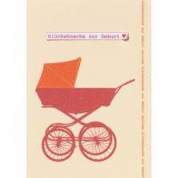 "Geburtsperlenkarte ""Glückwünsche zur Geburt"""