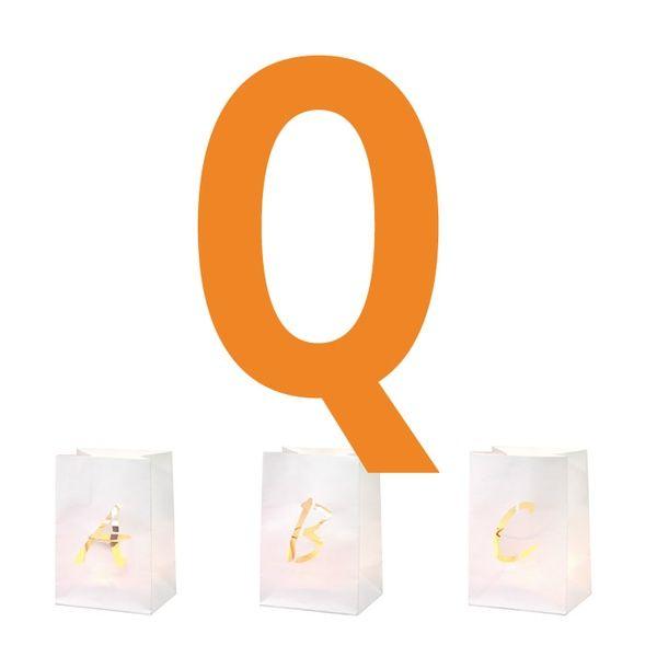 Buchstaben Lichttüte Q