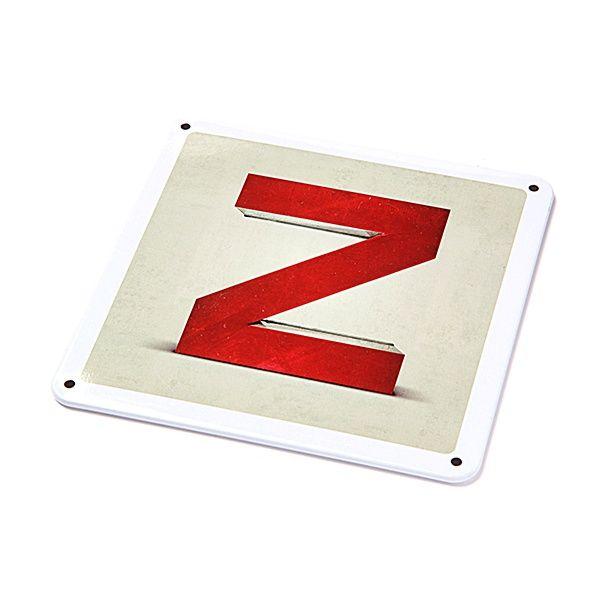 "Metallschild - ""Z"""
