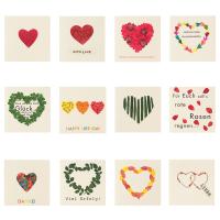 Herz Geschenkbriefchen 12er Set