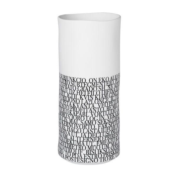 """NIGRA BLANKA Vase """"Text"""", klein"""