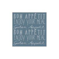 """Poesie et Table Servietten """"Bon Appetit"""""""
