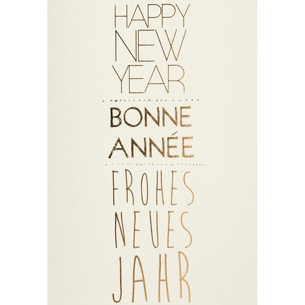 "Happy New Year Karte ""Gold"""