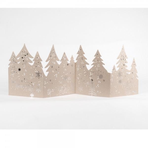 """Winter Silhouetten """"Bäume"""", silber"""