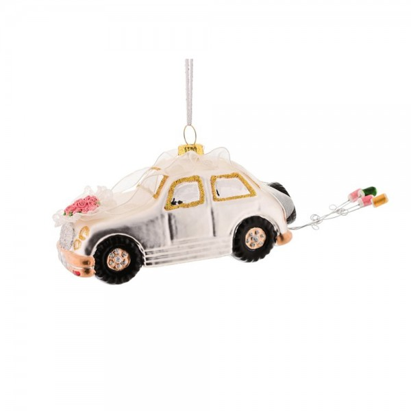 """Hänger """"Hochzeitsauto m. Blechdose"""""""