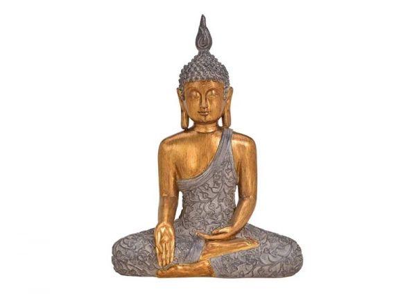 Buddha braun/gold - groß