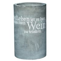 """Vino Beton Weinkühler """"Das Leben ist zu kurz"""""""