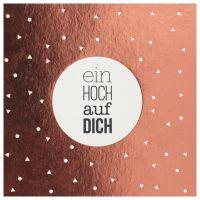 """Happy Day Postkarte """"Ein Hoch auf Dich"""""""