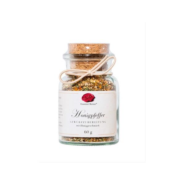 Honigpfeffer Gewürzzubereitung 60g im Korkenglas