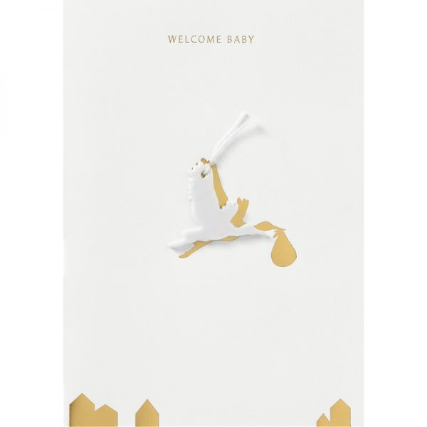 "Glücksbringer Geburtskarte ""Welcome Baby"""
