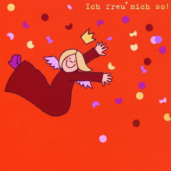 """Himmlische Schwestern - Postkarte """"Ich freu' mich so"""""""