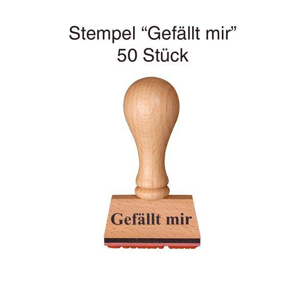"Stempel ""Gefällt mir"" 50er Set"