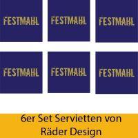 """Serviettenkollektion """"Festmahl"""" 6er Set"""