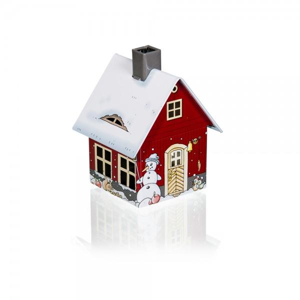 Räucherhaus Wintermotiv
