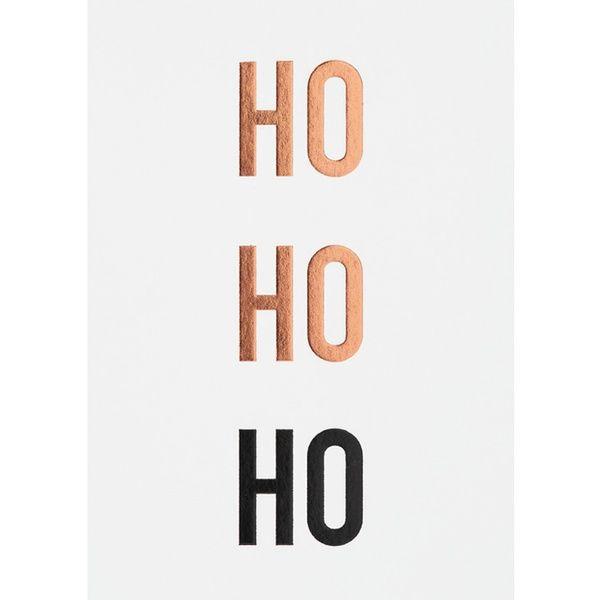 "Winterzeitpostkarte ""Ho Ho Ho"""