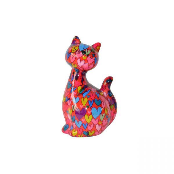 """Katze """"Caramel"""" M - Rot mit Herzen"""