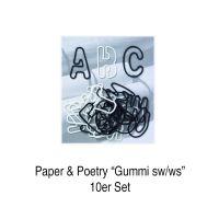 ABC Gummis, schwarz weiß, 26tlg., 10er Set