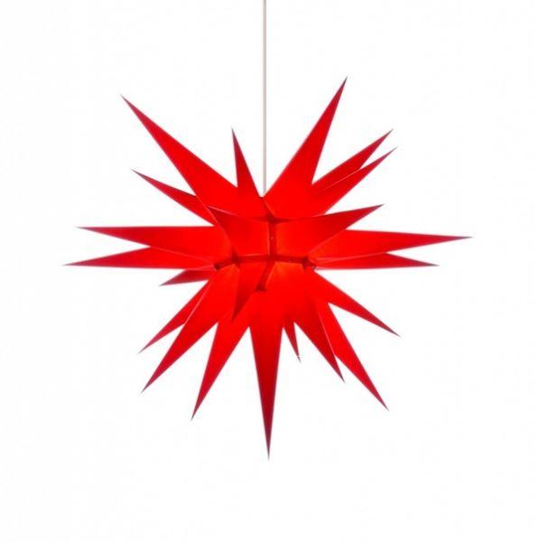 Herrnhuter Stern für Innen, Rot 70 cm