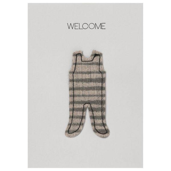"""Baby Kuschelkarte """"Welcome"""""""