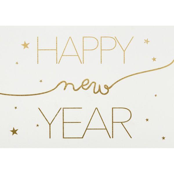 "Postkarte ""Happy new year"""