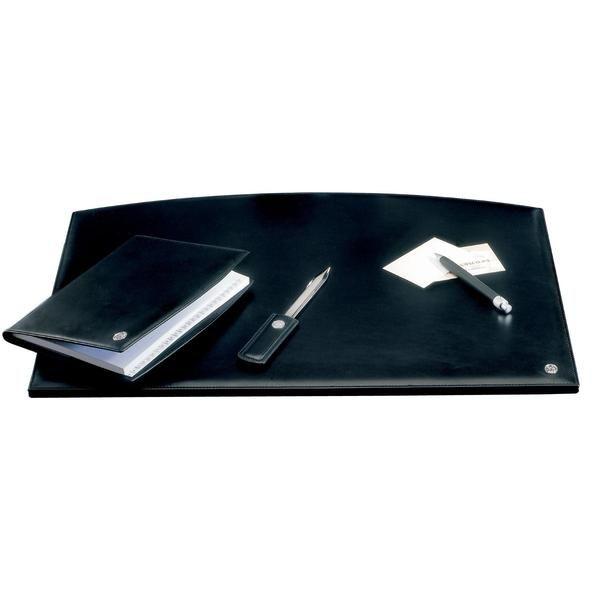 Schreibtischauflage Leder Black