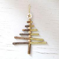 X-Mas Ast-Ornament Gold