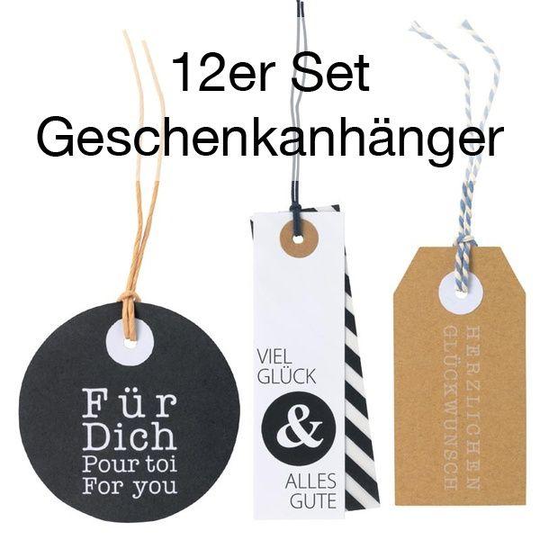 Geschenkset Anhänger Set 1 - 12er Set