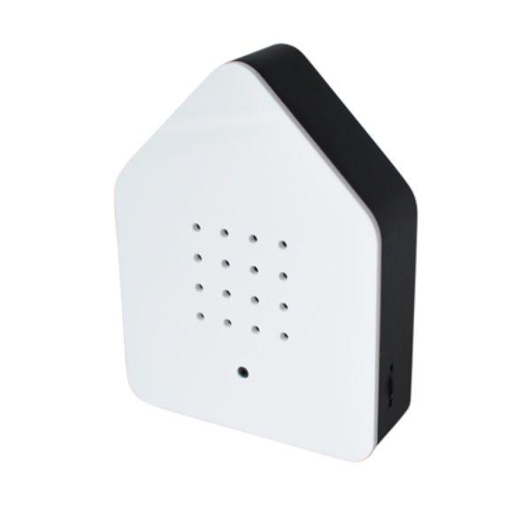 Zwitscherbox Weiß - schwarzer Rand