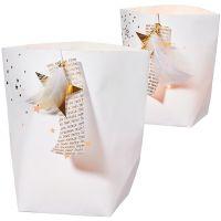 Winterzeit Glanz Papierlicht Set gold 1xgroß 1xklein