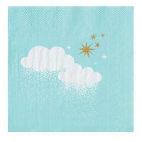 Winterzucker Servietten Wolke & Sterne