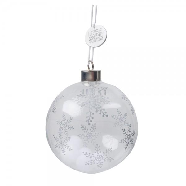 Ideen F303274r Weihnachtskarten.Wunderkugel Leise Rieselt Der Schnee Silber