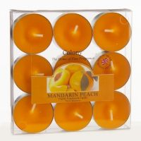 Teelicht 9er, Mandarin Peach (Mandarine Pfirsich)