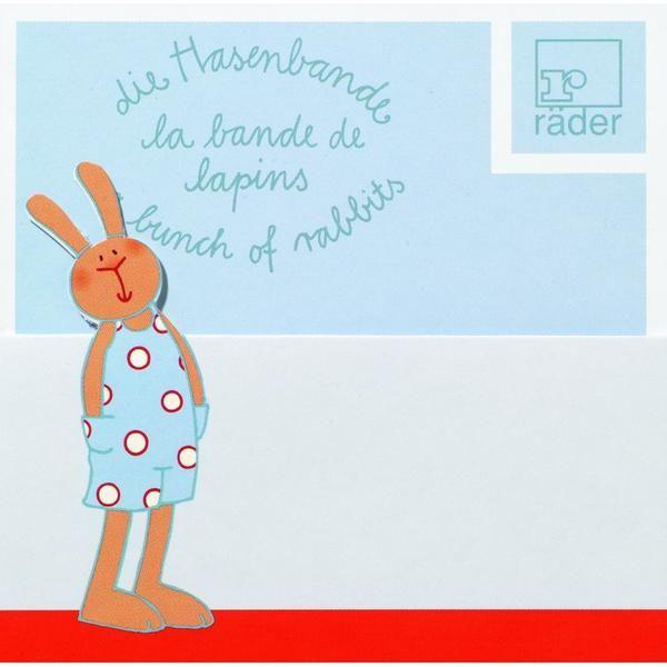 Hasenbande Tischkarte Heinrich Hoppel 6tlg.