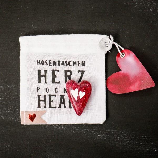 """Hosentaschen Herz """"Herz an Herz"""""""