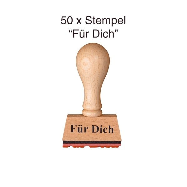 """Stempel """"Für Dich"""" 50er Set"""