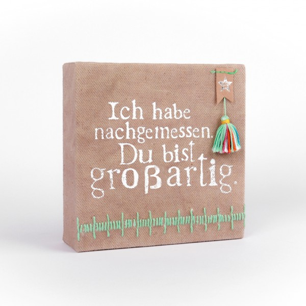 "Mini Leinwand ""Großartig"""