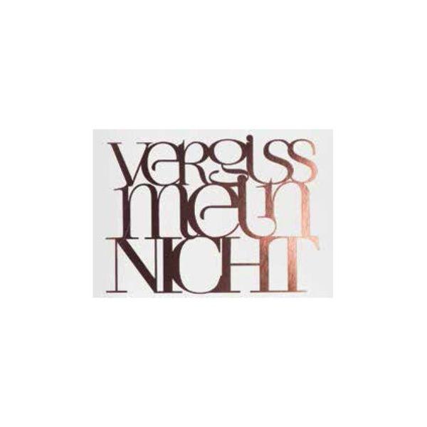 """Poesiepostkarte """"Vergiss mein nicht"""""""