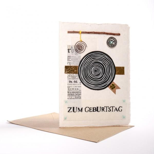 """Kunst Karte """"Zum Geburtstag"""""""