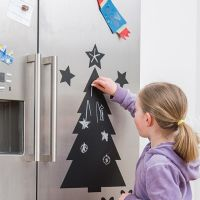 "Sticker mit Kreide ""Chalkboard Christmas Tree"""